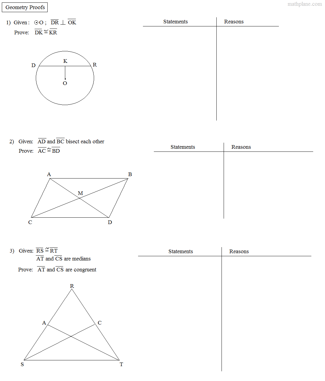 Triangle Congruence Worksheet Answer Key
