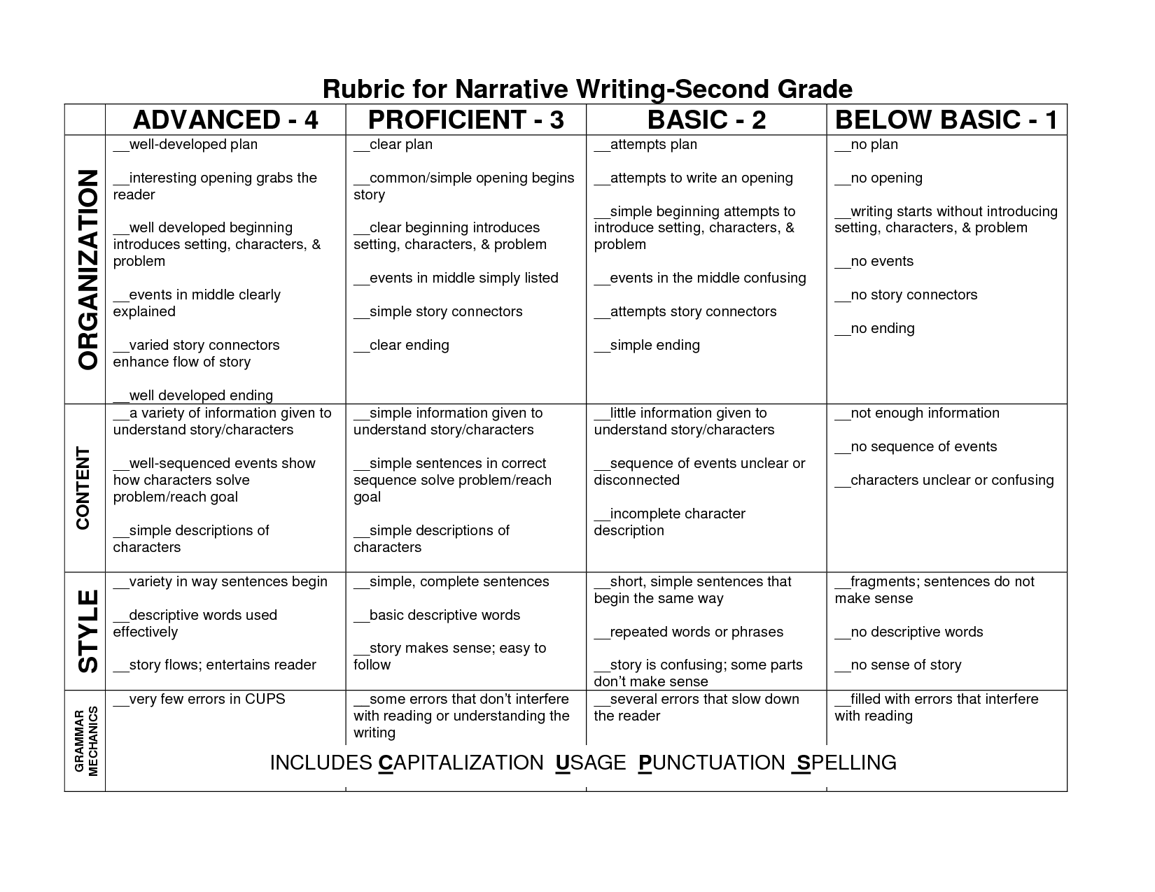 Write Essay 4th Grade