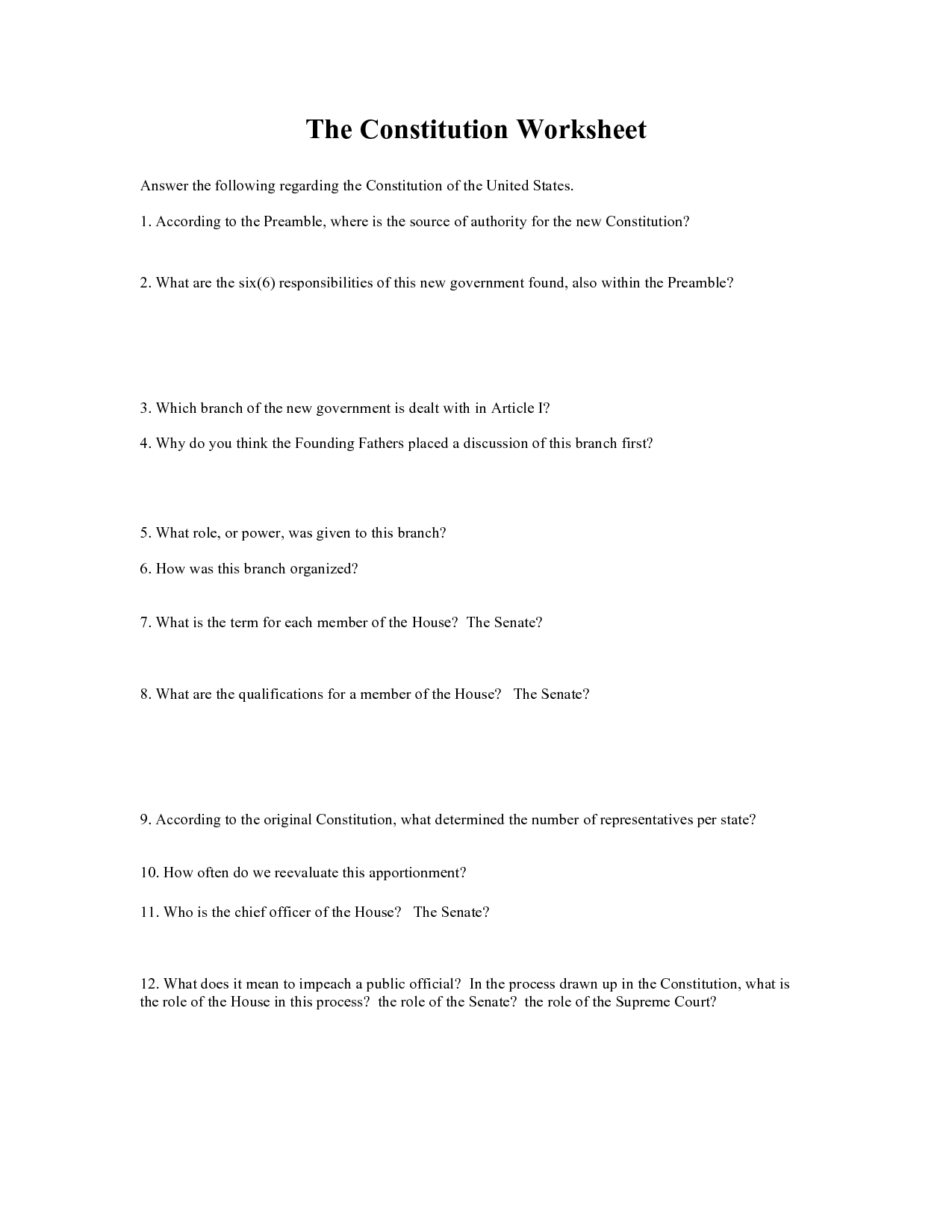 12 Best Images Of Preamble Scramble Worksheet Answers