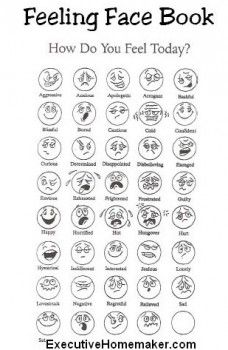 10 Best Images of How Are You Feeling Today Worksheet