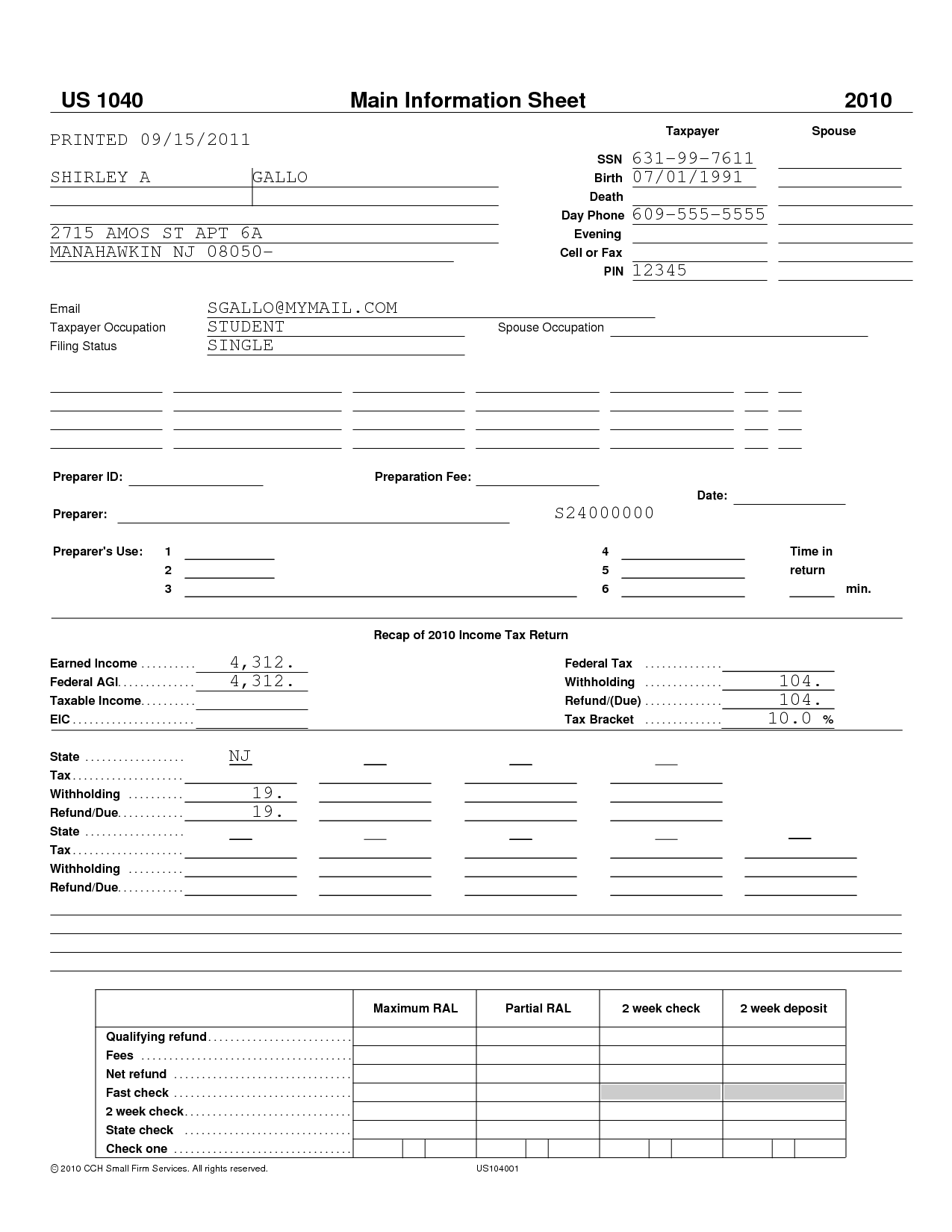 Uncg Verification Worksheet