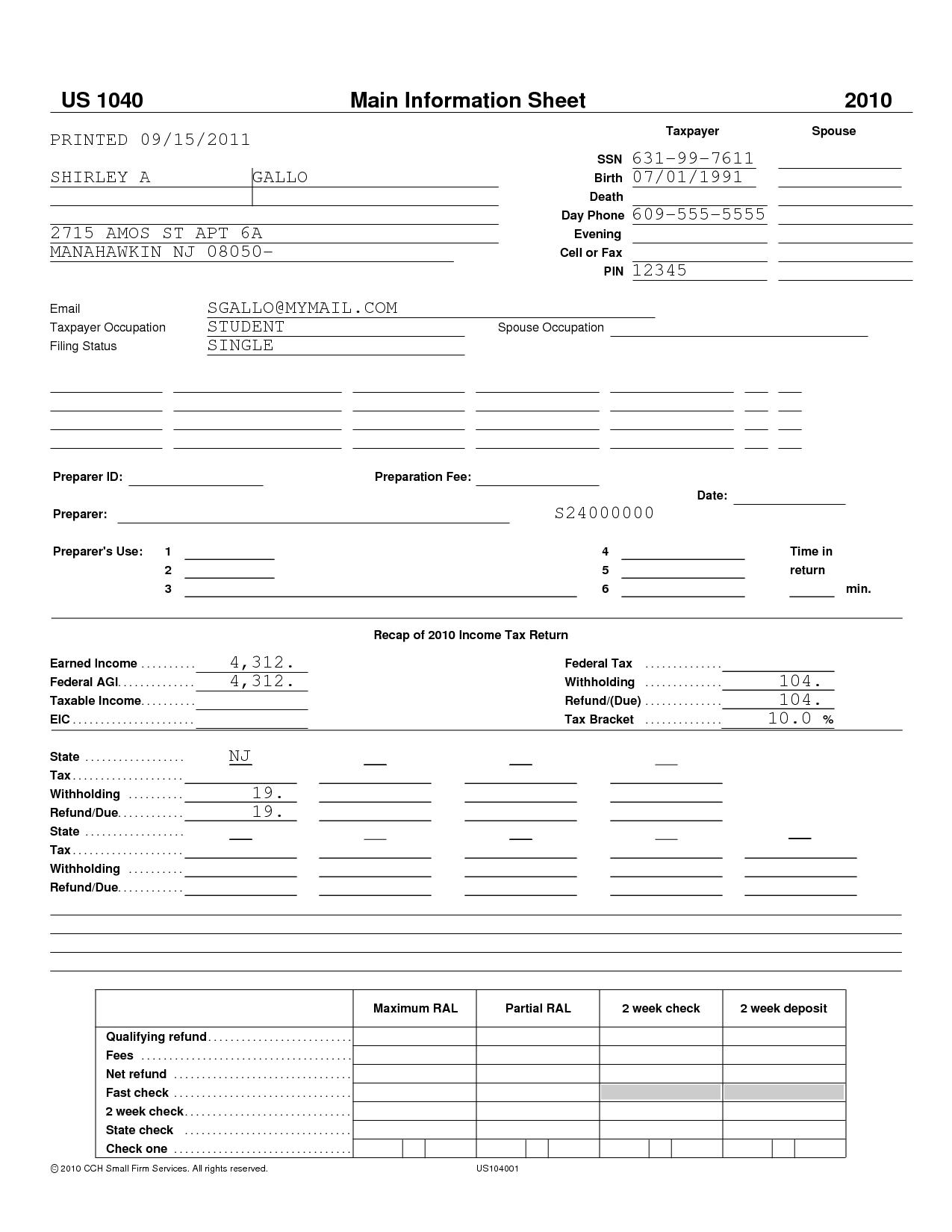 Financial Aid Worksheet