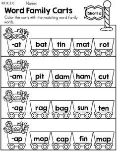 15 Best Images of Word Families Kindergarten Worksheets