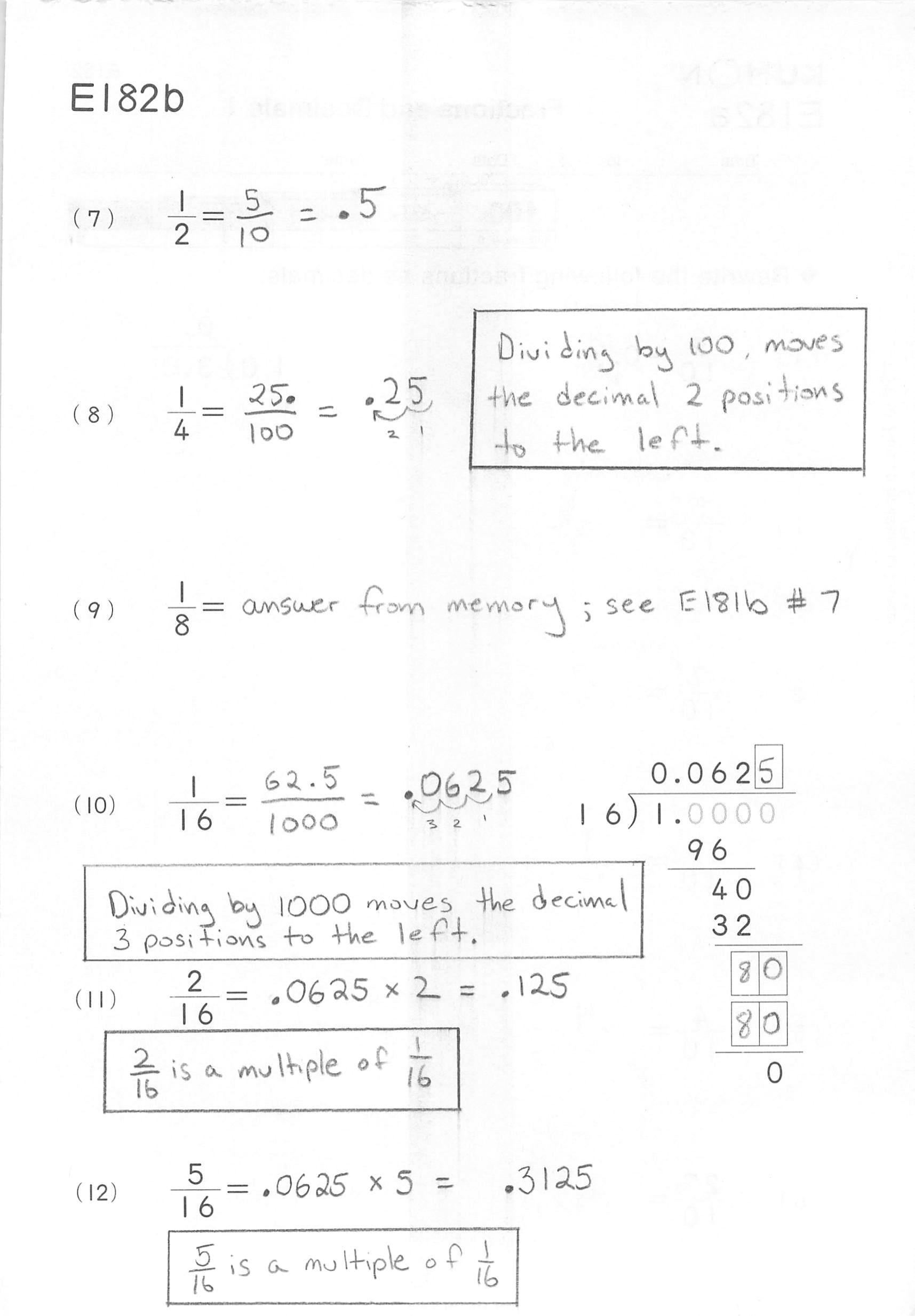 Kumon Math Worksheet Algebra