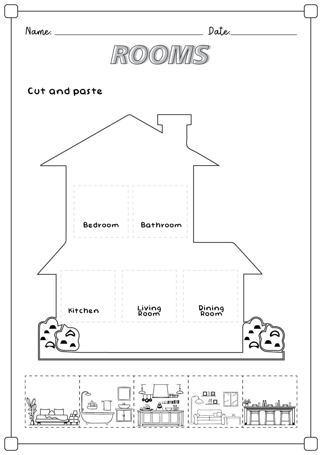 13 Best Images Of Kindergarten Worksheet My Room