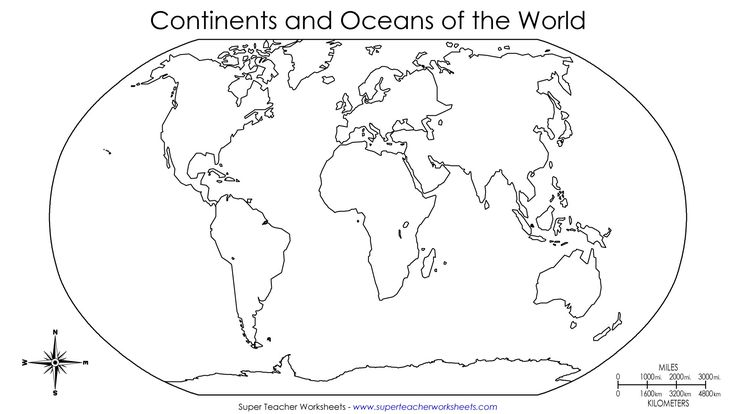 9 Best Images of Continents And Oceans Worksheets