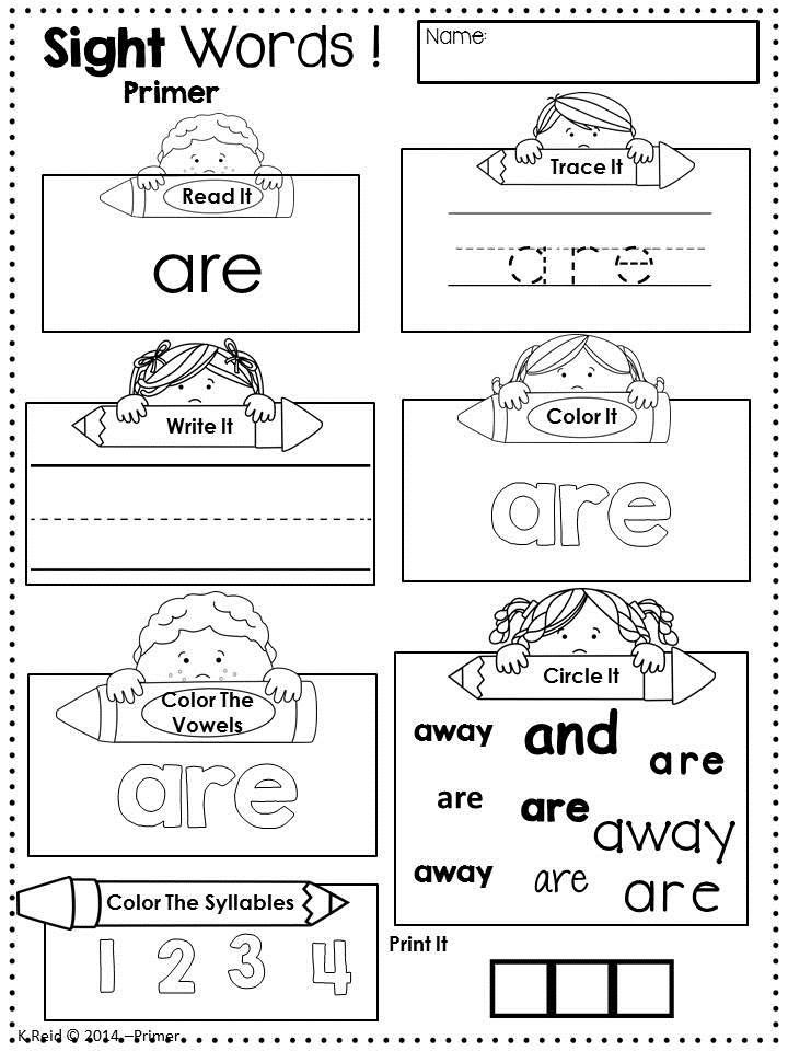 13 Best Images of First Grade Dolch Words Worksheets