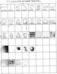 11 Best Images of Middle School Art Drawing Worksheet