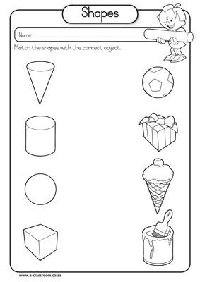 15 Best Images of 3D Geometry Worksheets Kindergarten