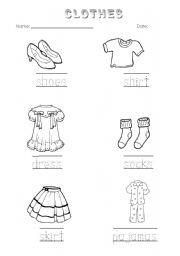 18 Best Images of Kindergarten Worksheets Clothing