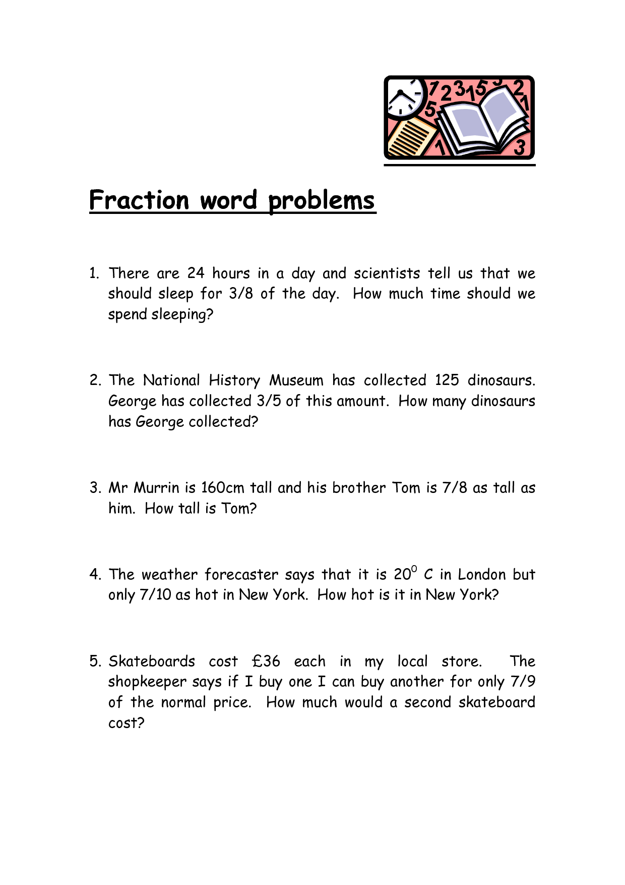 Printable Fraction Worksheet For 3rd Graders