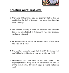 5th Grade Word Problems Worksheets   Printable Worksheets and Activities  for Teachers [ 1754 x 1240 Pixel ]