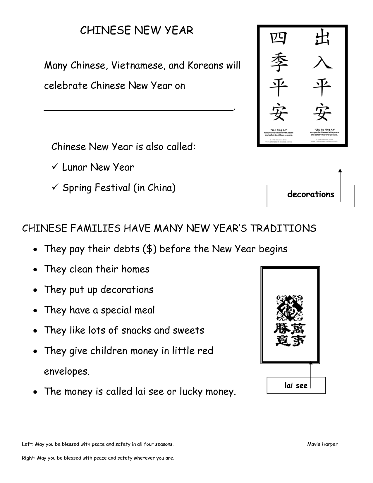 16 Best Images Of Chinese Worksheets Spring