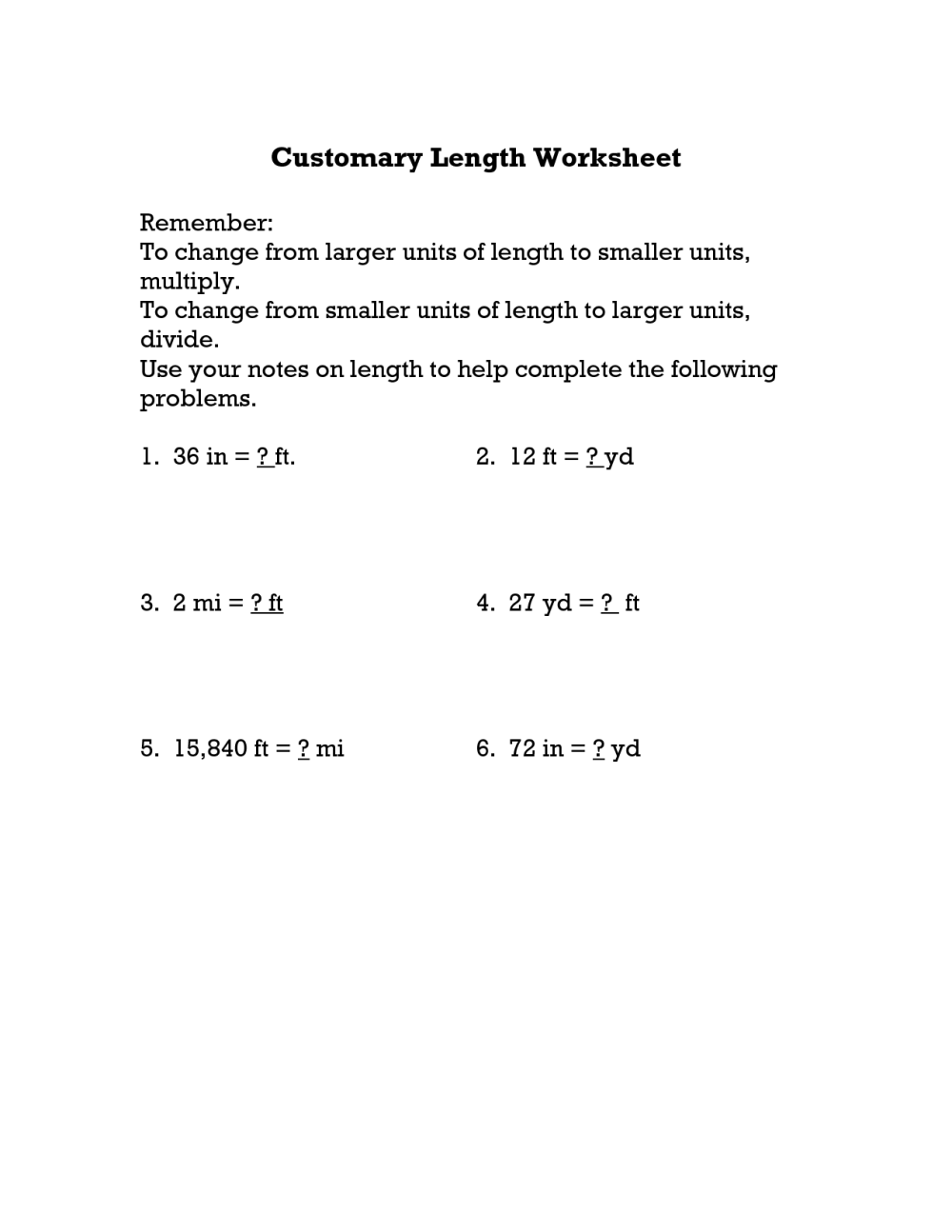 medium resolution of Convert Customary Units Worksheet   Printable Worksheets and Activities for  Teachers