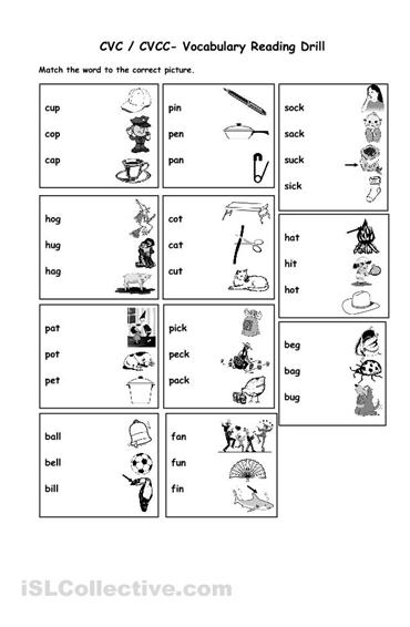 15 Best Images of Free CVC Worksheets For Kindergarten