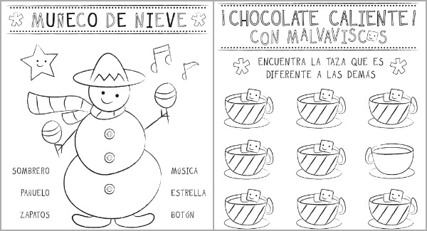 9 Best Images of Christmas Words In Spanish Worksheets