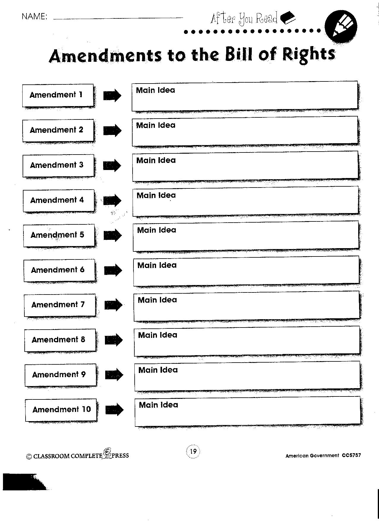 8 Best Images Of Amendments Quiz Worksheet