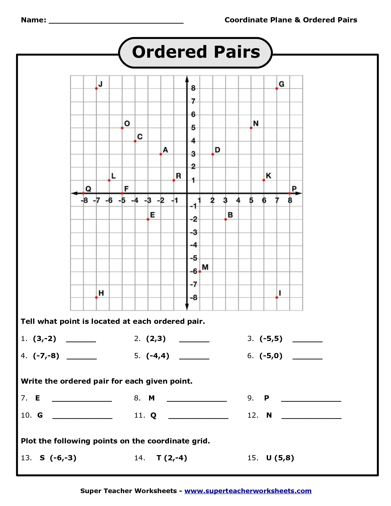 8 Best Images Of Graphing Worksheets Coordinate Grid