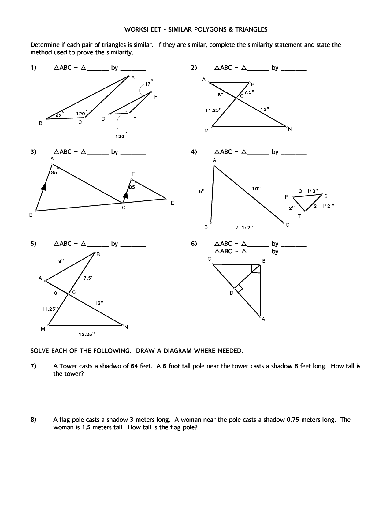Obtuse Triangles Worksheet