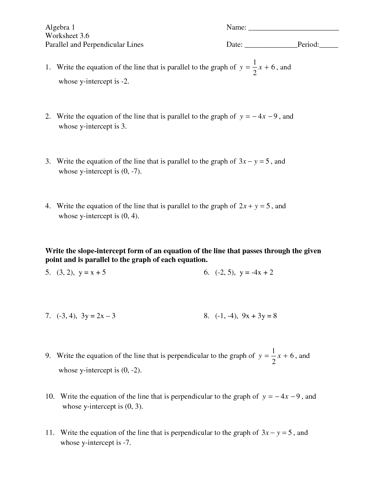 8 Best Images Of Slope Formula Worksheet