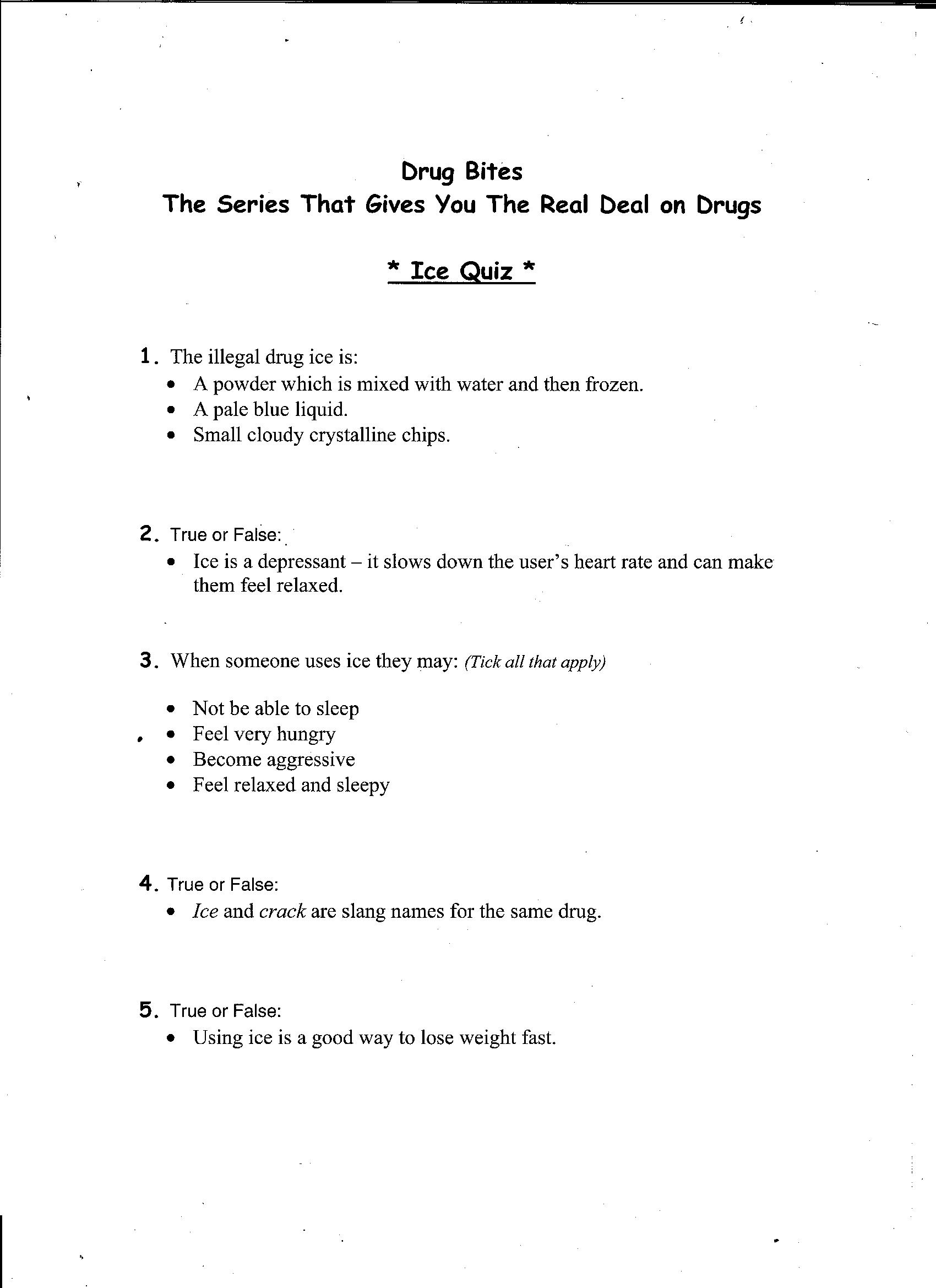 19 Best Images Of Alcohol Abuse Worksheets Free