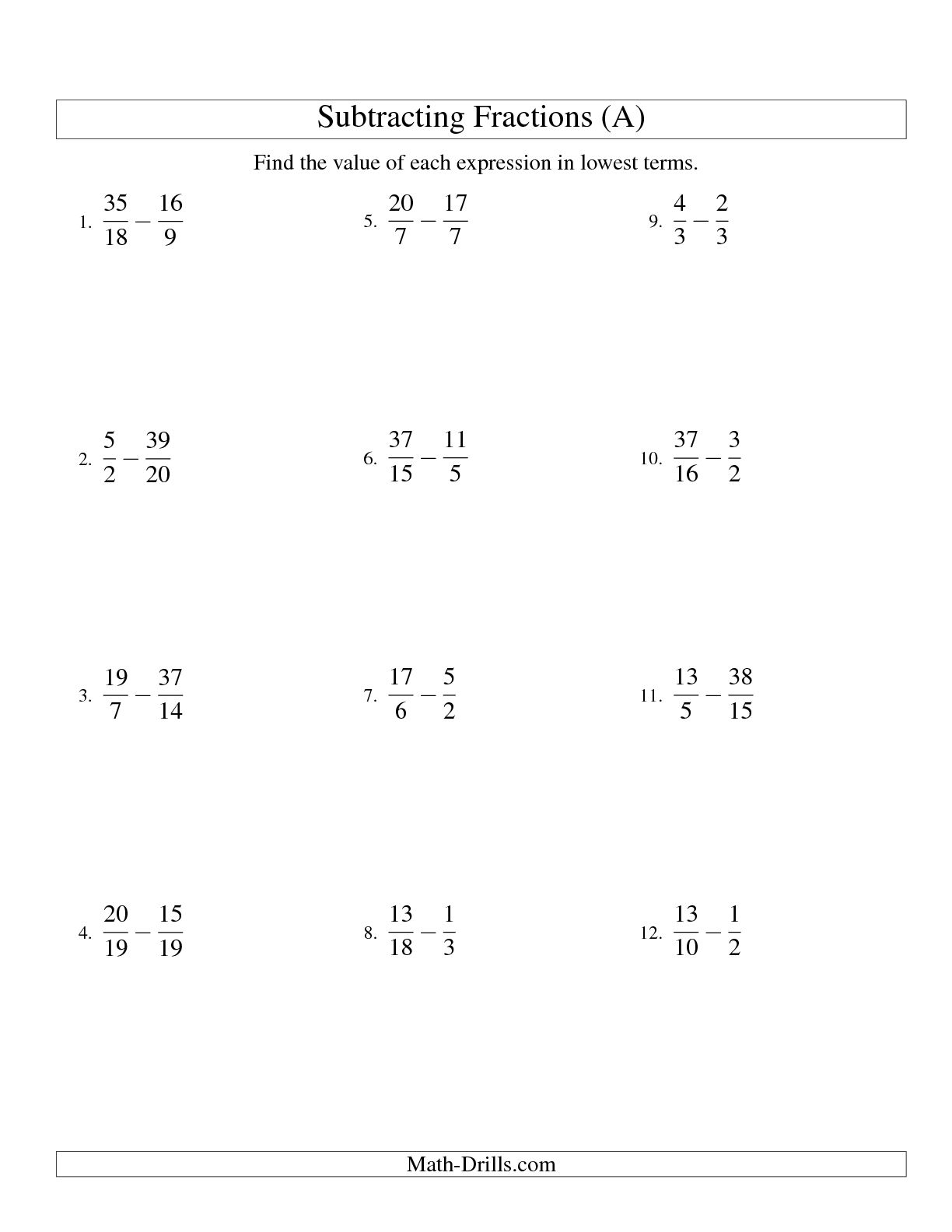 16 Best Images Of Adding Fractions Worksheets Grade 6