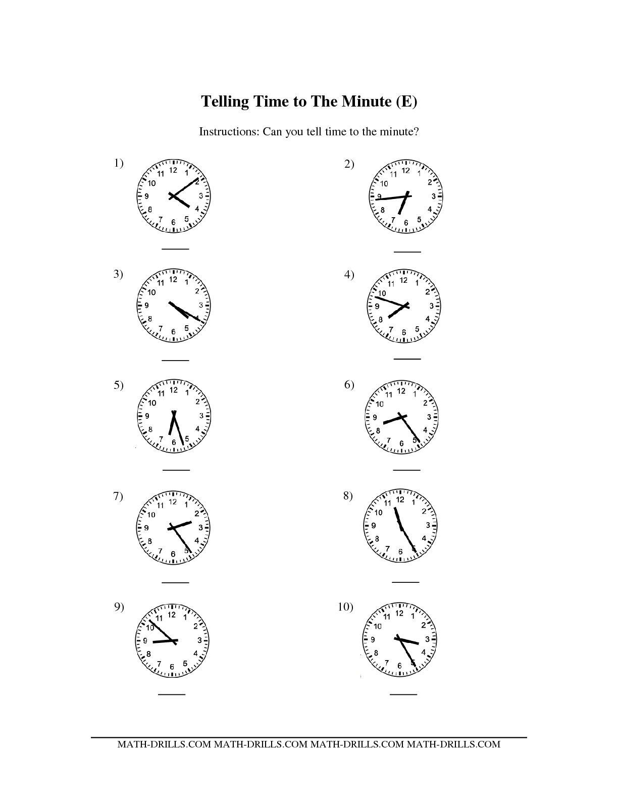 19 Best Images Ofog Clock Time To The Minute
