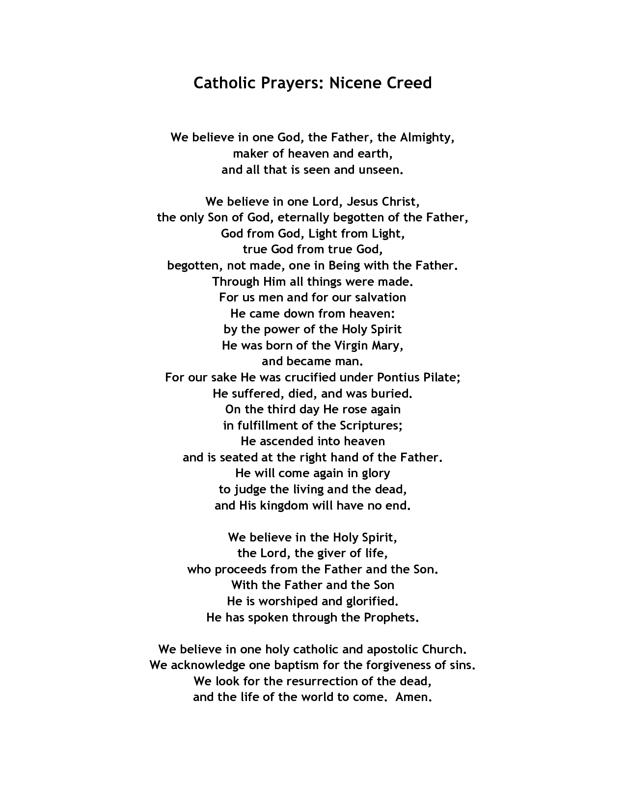 18 Best Images Of Apostles Creed Worksheet