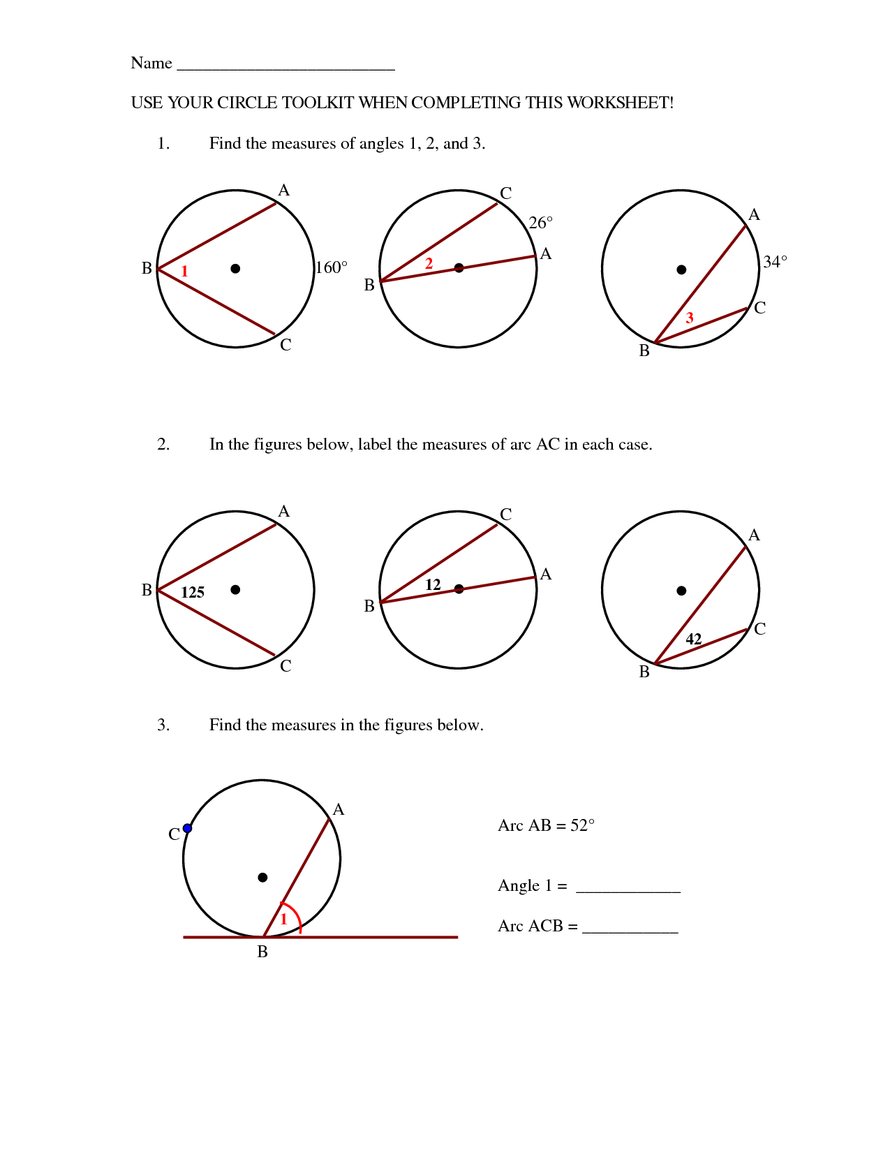 13 Best Images Of Angle Practice Worksheet