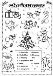 10 Best Images of Christmas Worksheets For Elementary
