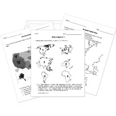 14 Best Images of Social Studies Map Worksheets 3rd Grade