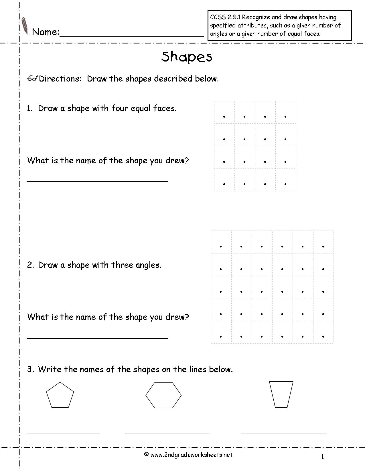 10 Best Images Of Shapes And Angles Worksheets