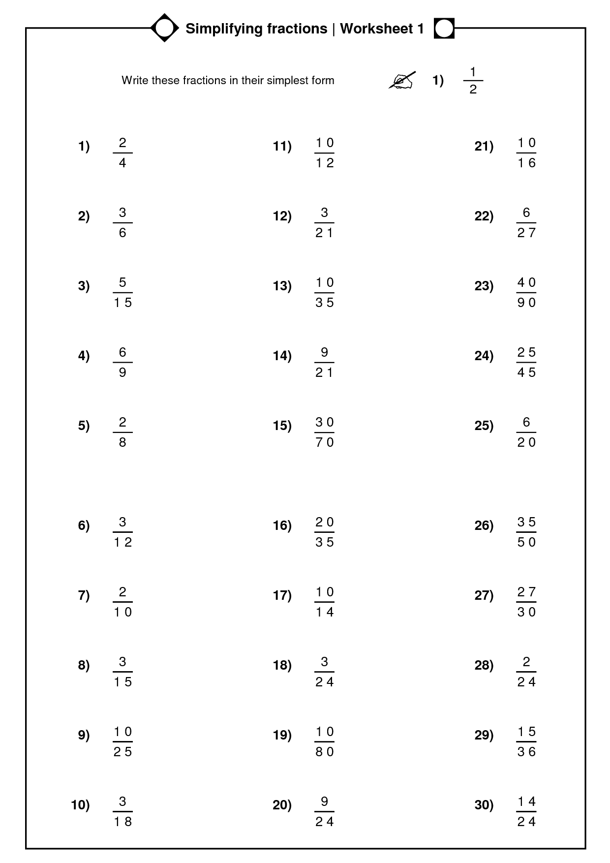 hight resolution of Simplify Mixed Numbers Worksheet   Printable Worksheets and Activities for  Teachers