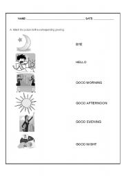 15 Best Images of Greeting English Worksheet For Kids