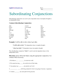 15 Best Images of Worksheets Using Conjunctions ...