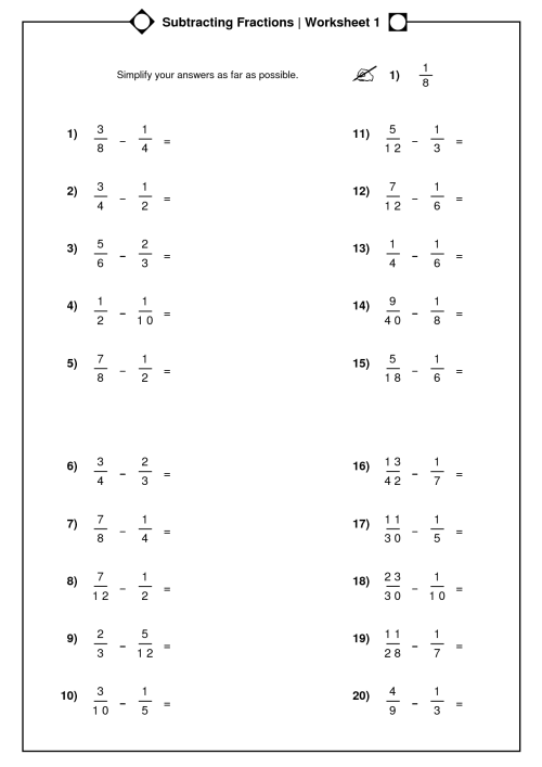 small resolution of Worksheet On Simplifying Fractions 5th Grade   Printable Worksheets and  Activities for Teachers