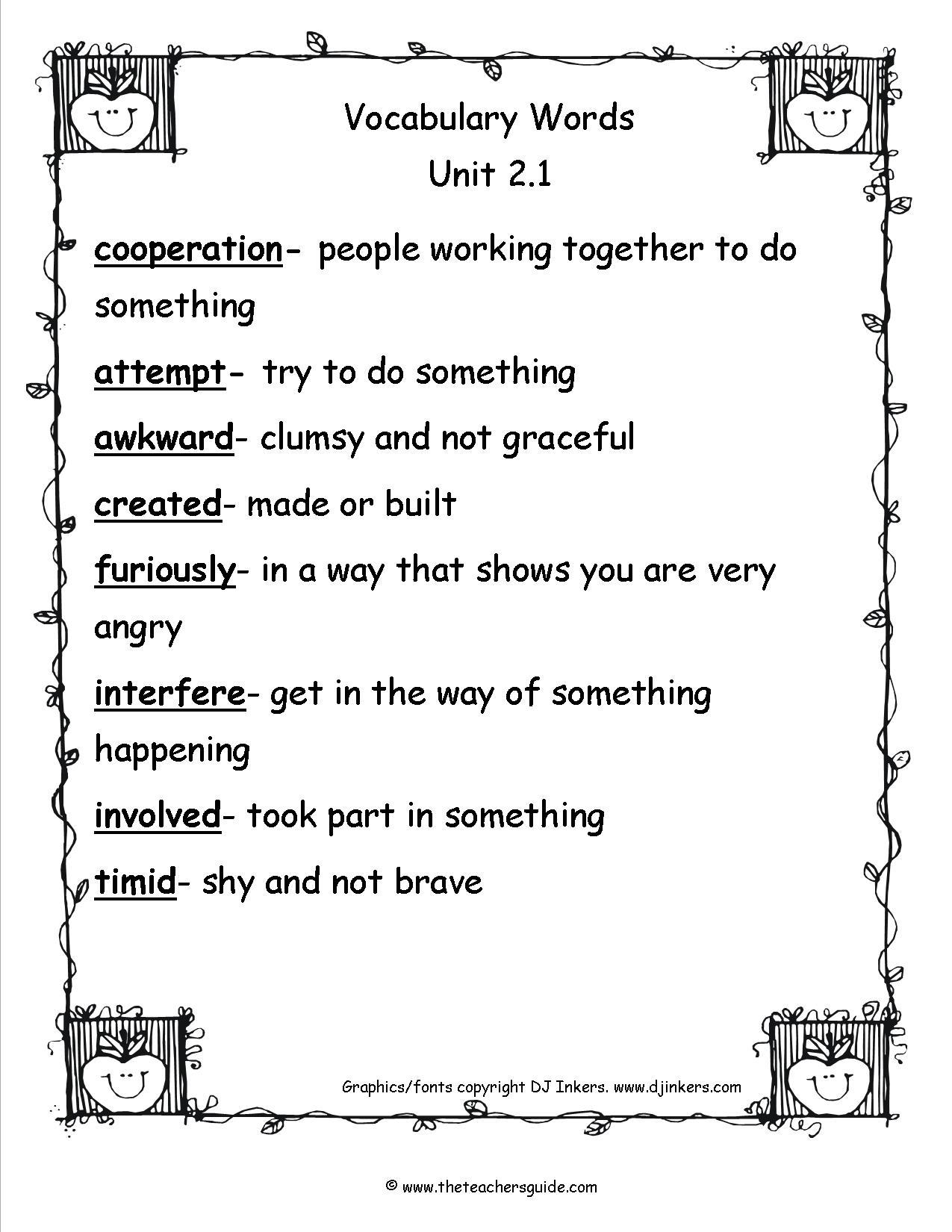 Cooperation Worksheet Math
