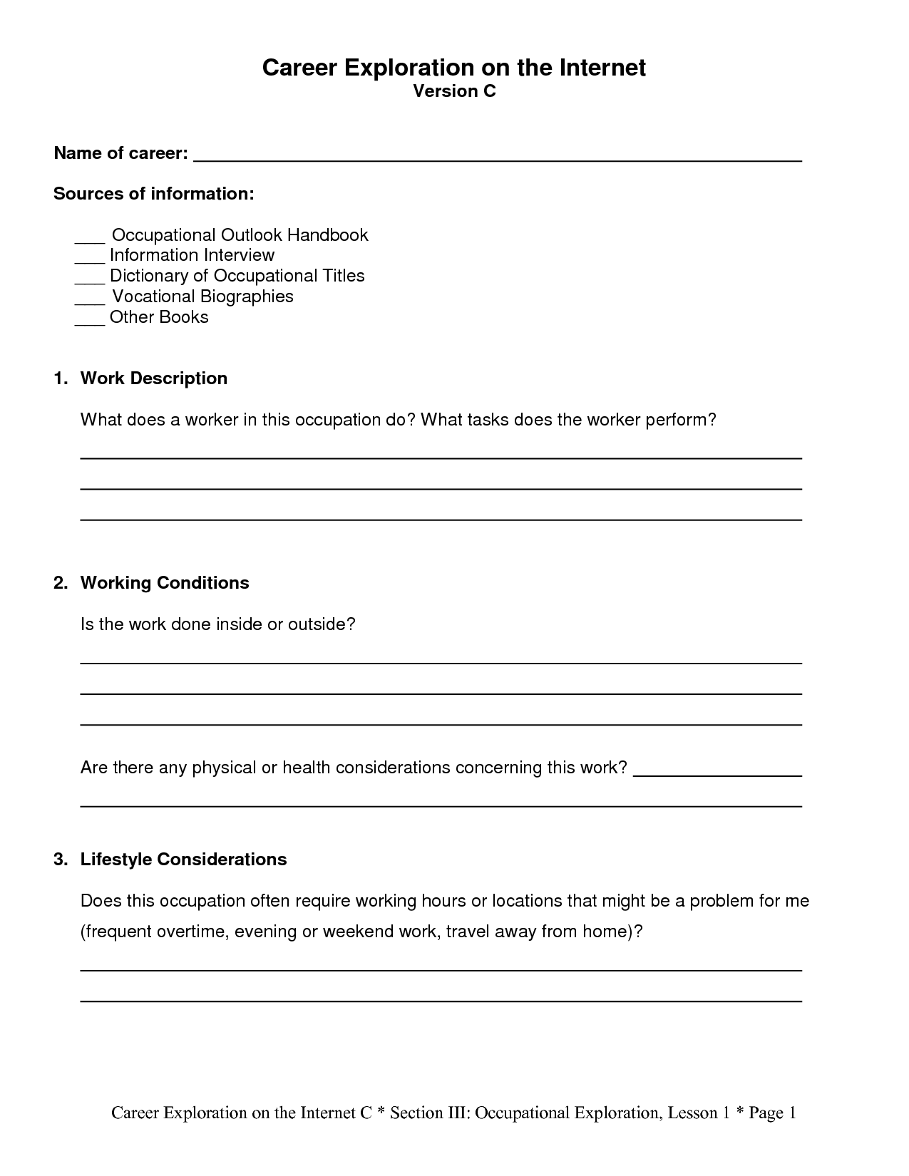 Great Commission Worksheet
