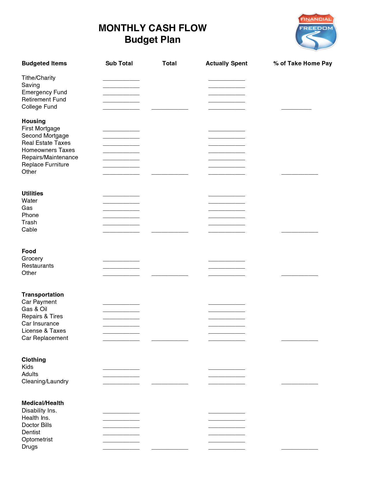 16 Best Images Of Dave Ramsey Budget Worksheet
