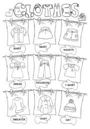 12 Best Images of ESL Weather And Clothing Worksheet