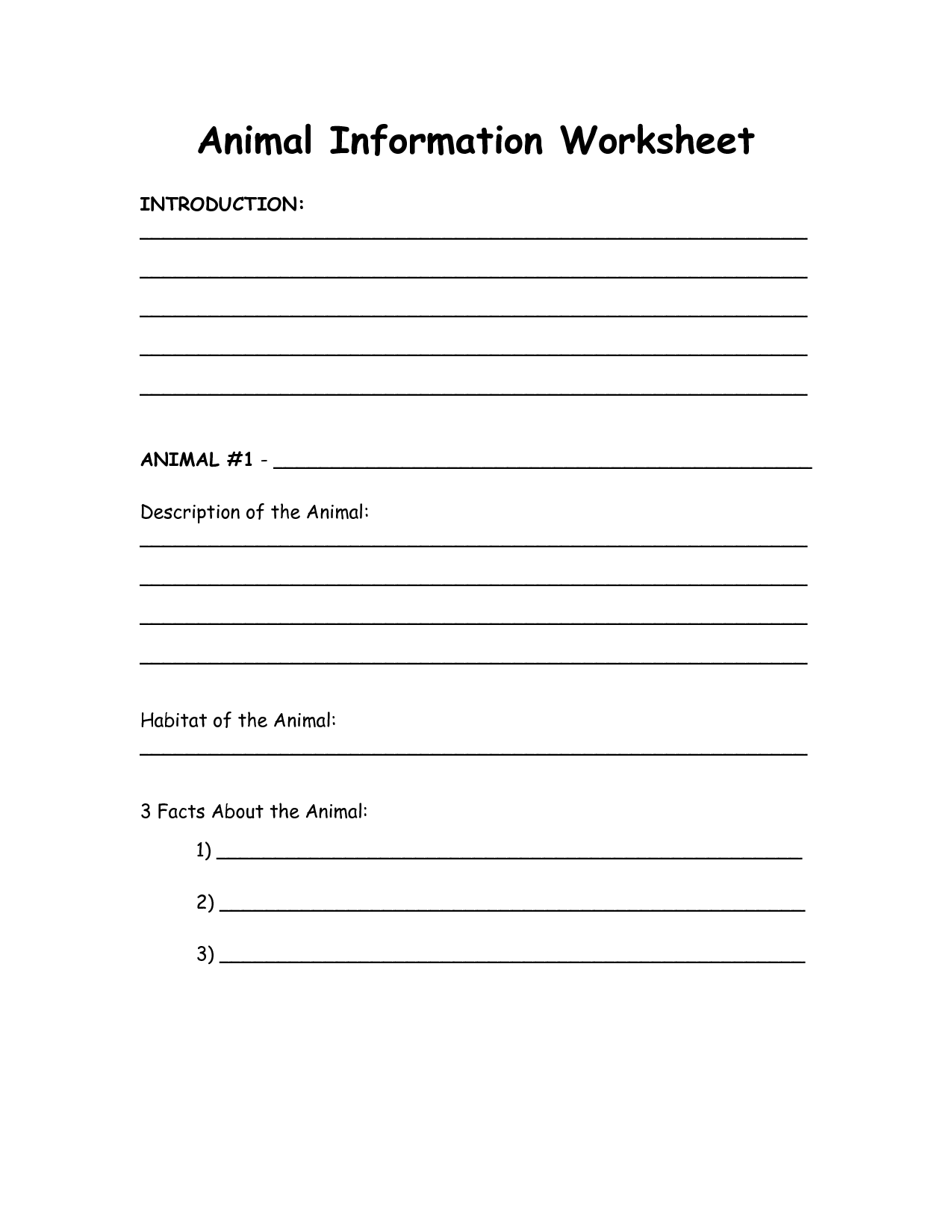 15 Best Images Of Classes Of Animals Worksheet