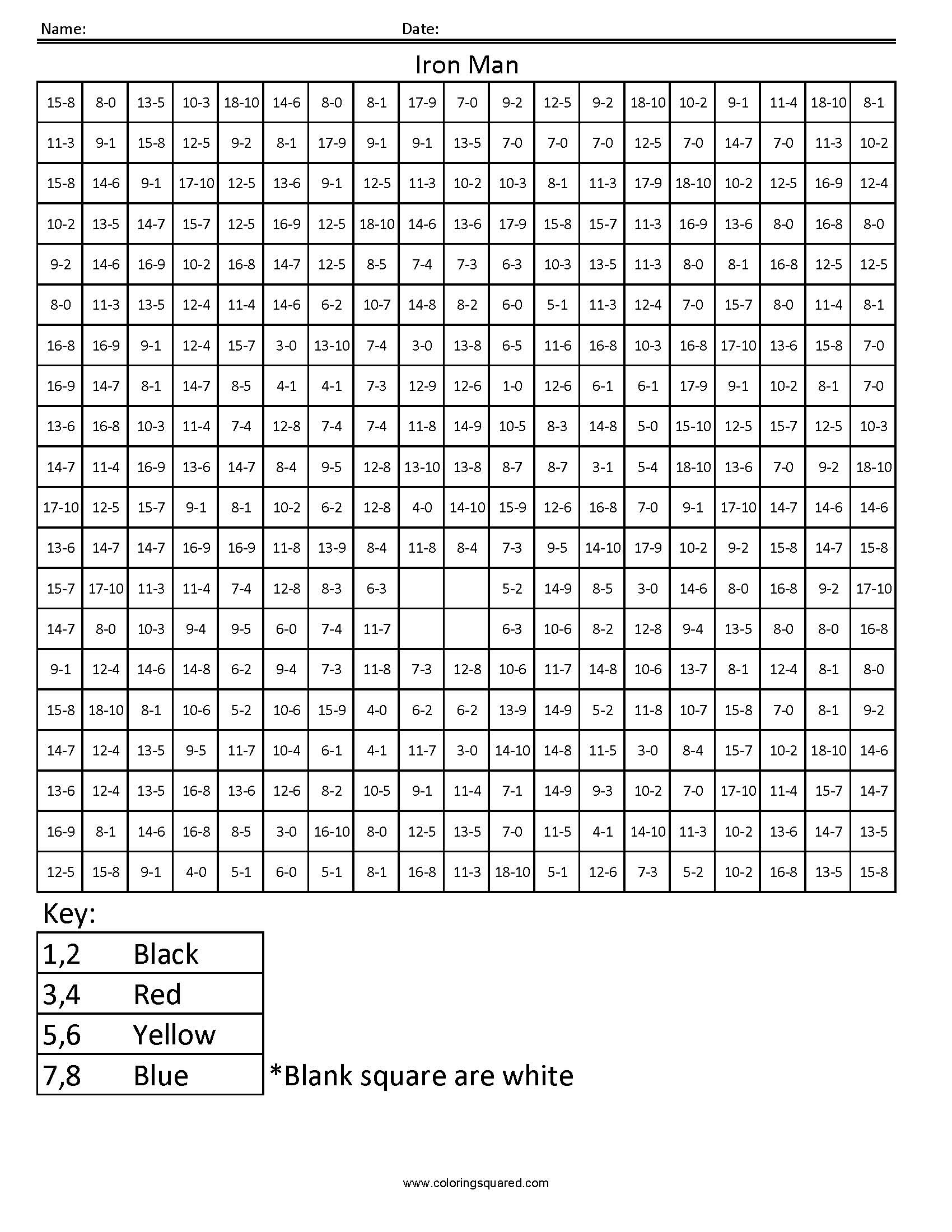 8 Best Images Of Math Shading Worksheets