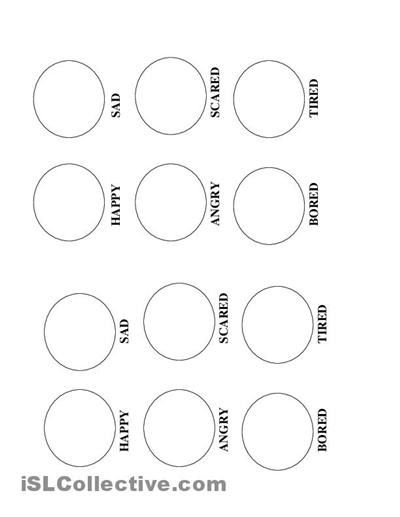 12 Best Images of Full Size Printable Worksheets Feelings