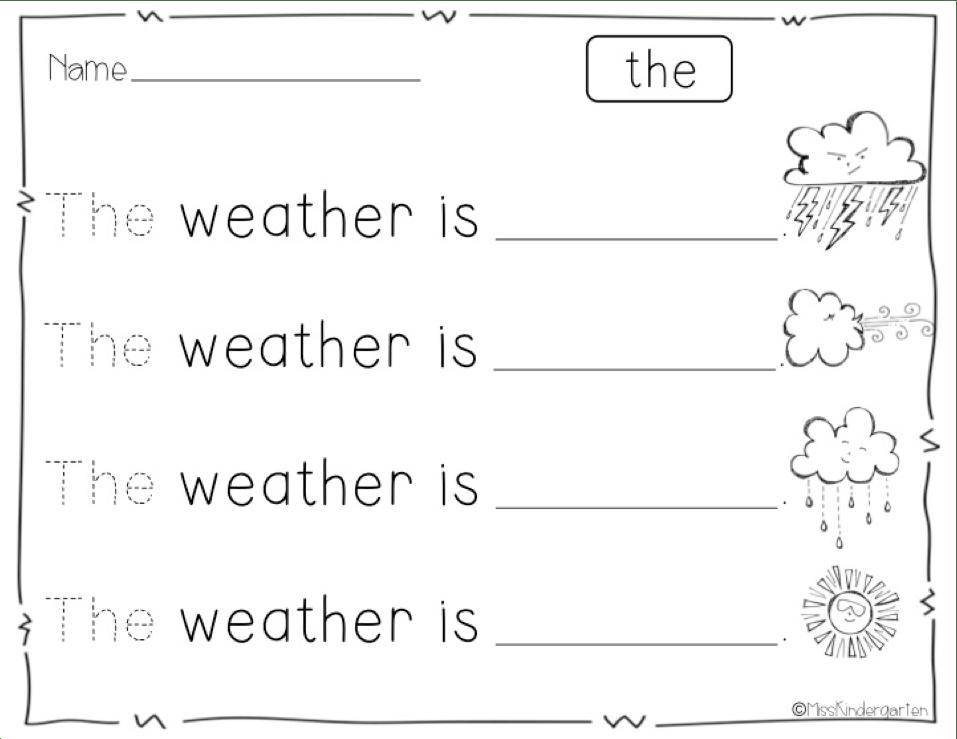 13 Best Images of Kindergarten Worksheets Sight Words
