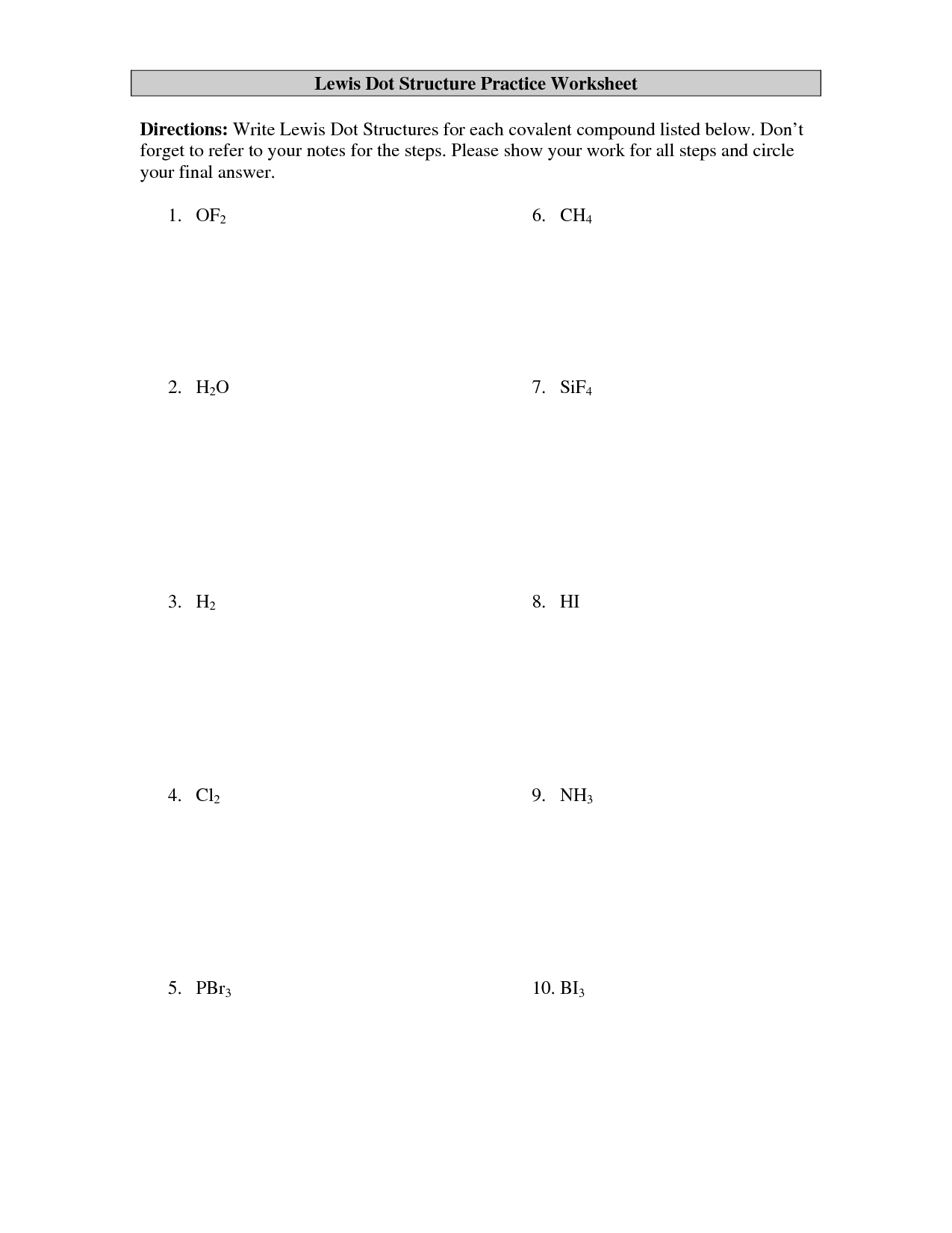 what is a dot diagram in chemistry wiring for 1990 chevy truck 9 best images of electron configuration practice worksheet