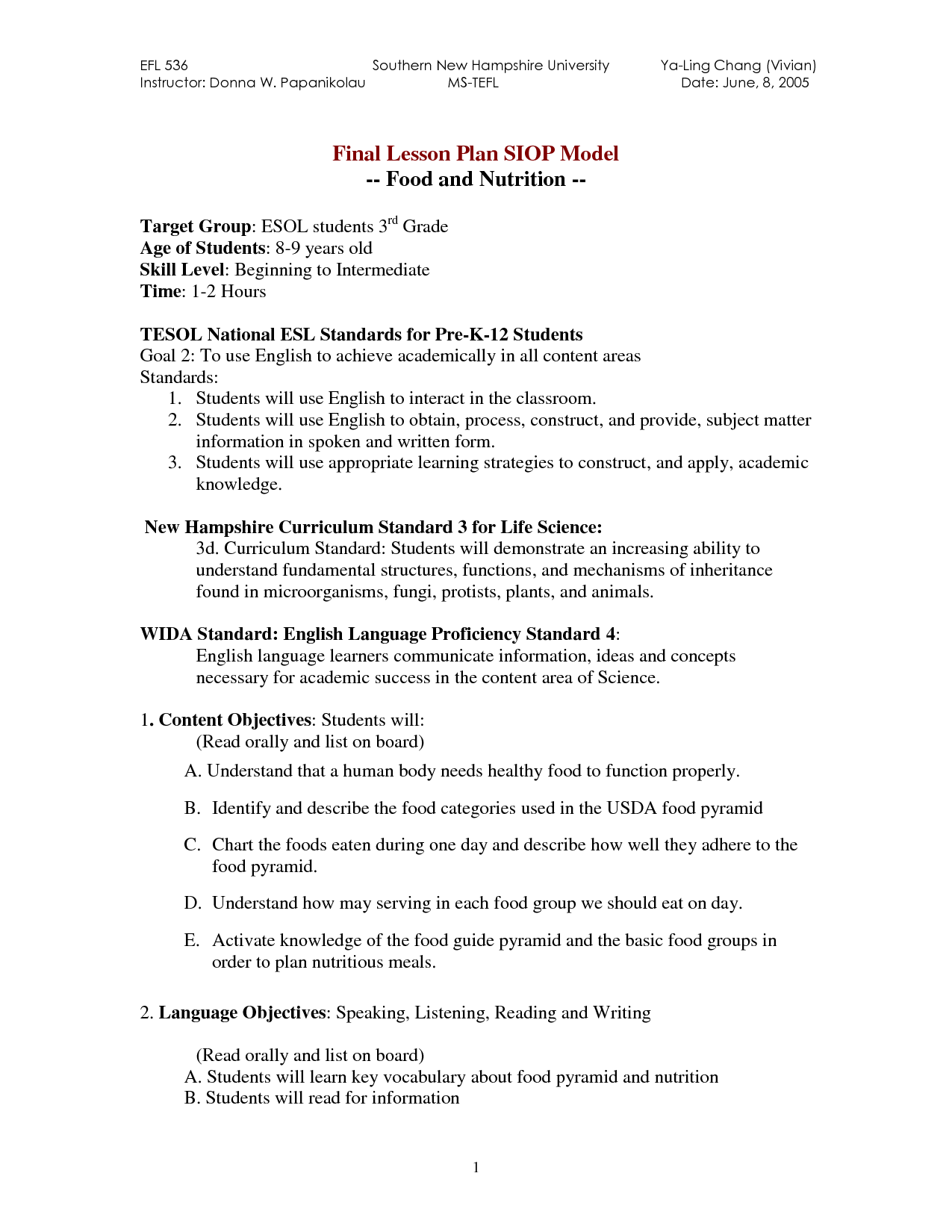 Fruit Nutrition Worksheet