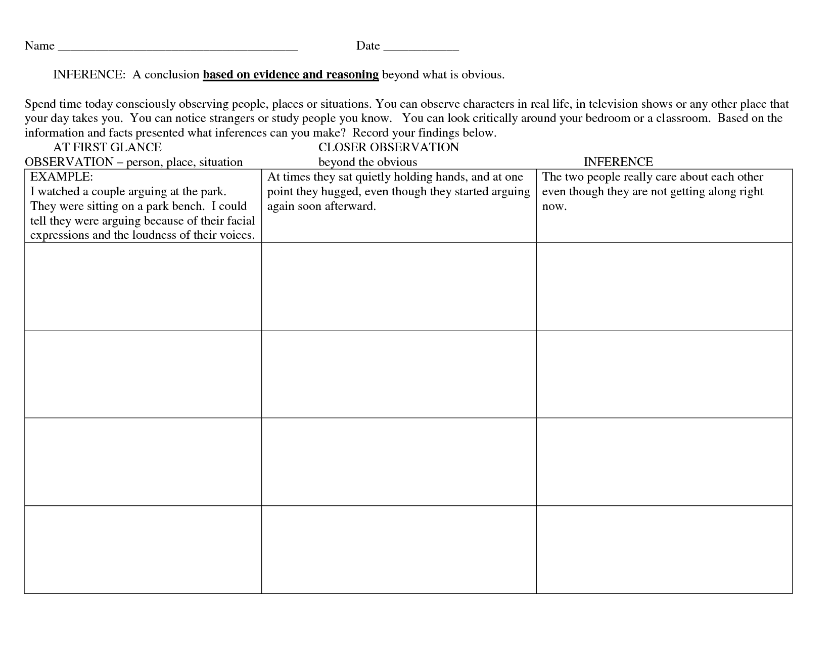 10 Best Images Of People Get To Know Worksheet