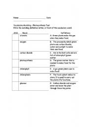 10 Best Images of Photosynthesis Starts With Worksheet ...