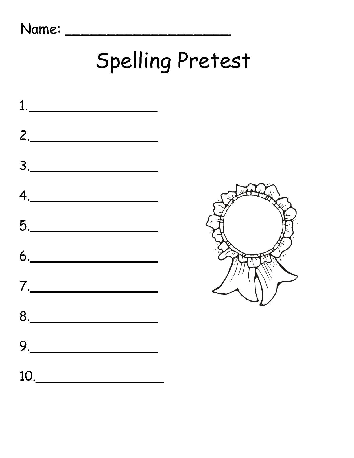 16 Best Images of 1st Grade Spelling List Worksheets