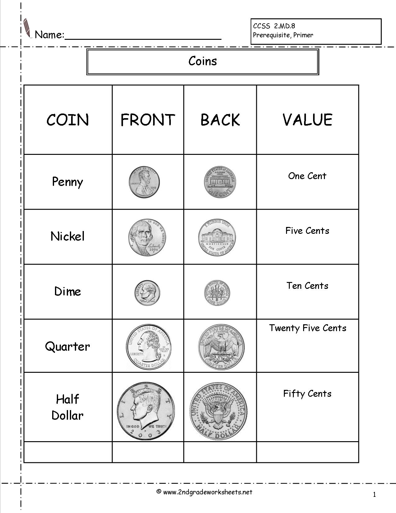 hight resolution of Do It Now Money Counting Worksheets 2nd Grade   Printable Worksheets and  Activities for Teachers